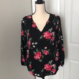 OLD NAVY ROSES BLOUSE